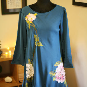 Anthropologie hydrangea dress